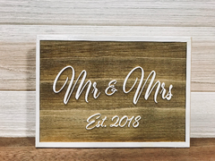 Mr & Mrs Wall Plaque Laser Engraved Personalized Custom Sign 755 by All Seasons