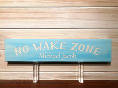 Personalized No Wake Zone Wall Plaque Laser Engraved Custom Sign 163 by All Seasons
