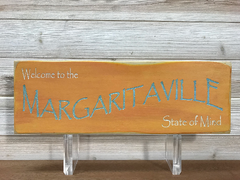 Welcome to the Margaritaville State of Mind Wall Plaque Laser Engraved Personalized Custom Beach Sign 165 by All Seasons
