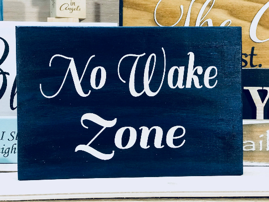 No Wake Zone Sign Wall Plaque Laser Engraved Personalized Custom Nautical Sign, Bedroom sign 855 by All Seasons