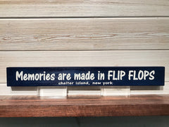 Memories are made in Flip Flops Wall Plaque Laser Engraved Personalized Custom Sign 162 by All Seasons