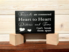 Friends Are Connected Block Wall Plaque Laser Engraved Personalized Custom Sign 635 by All Seasons