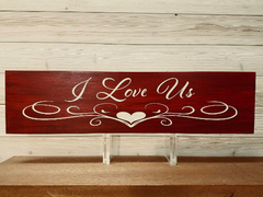 I Love Us Wall Plaque Laser Engraved Personalized Custom Sign 246 by All Seasons