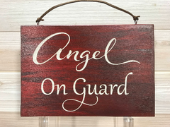 Angel on Guard Wall Plaque Laser Engraved Personalized Custom Sign  by All Seasons