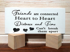 Friends Are Connected Block Wall Plaque Laser Engraved Personalized Custom Sign 835 by All Seasons