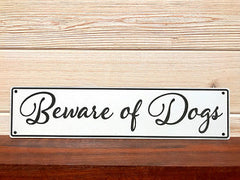 Beware Of Dogs Rectangular Wall Plaque Laser Engraved Acrylic Sign 211 By All Seasons