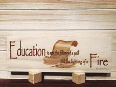 Education Wall Plaque Laser Engraved Personalized Custom Sign 163 by All Seasons