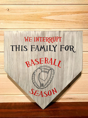 Baseball Season Wall Plaque Laser Engraved Personalized Custom Sign 1111 by All Seasons