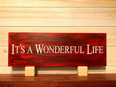 It's A Wonderful Life (New Design) Wall Plaque Laser Engraved Custom Sign 165 by All Seasons