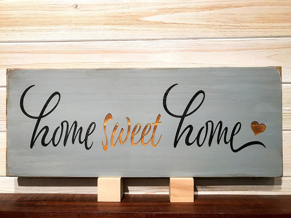 Home Sweet Home Wall Plaque Laser Engraved Personalized Custom Sign 208 by All Seasons