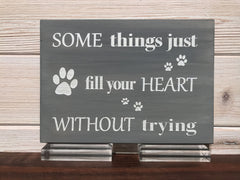 Some Things Just Fill Your Heart Without Trying Wall Plaque Laser Engraved Personalized Custom Sign 855 by All Seasons
