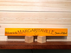 Welcome to the Margaritaville State of Mind Wall Plaque Laser Engraved Personalized Custom Beach Sign 162 by All Seasons