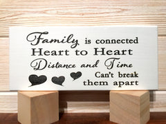 Family is Connected Block Wall Plaque Laser Engraved Personalized Custom Sign 835 by All Seasons
