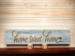 Home Sweet Home Wall Plaque Laser Engraved Personalized Custom Sign 246 by All Seasons