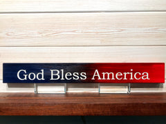 God Bless America Wall Plaque Laser Engraved Personalized Custom Sign 162 by All Seasons