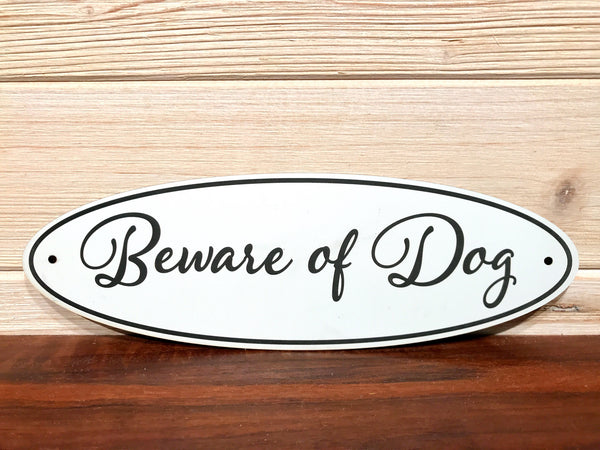 Beware Of Dog Oval Wall Plaque Laser Engraved Acrylic Sign 310 By All Seasons