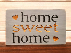 Home Sweet Home Block Wall Plaque Laser Engraved Personalized Custom Sign 635 by All Seasons