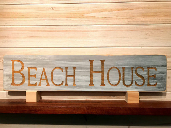 Beach House Wall Plaque Laser Engraved Personalized Custom Sign 245 by All Seasons