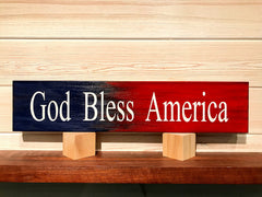 God Bless America Wall Plaque Laser Engraved Personalized Custom Sign 163 by All Seasons