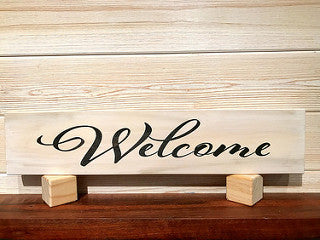 Welcome Wall Plaque Laser Engraved Personalized Custom Sign 162 by All Seasons