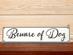 Beware Of Dog Rectangular Wall Plaque Laser Engraved Acrylic Sign 211 By All Seasons