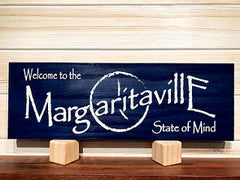 Welcome to the Margaritaville State of Mind (With Symbol) Wall Plaque Laser Engraved Personalized Custom Beach Sign 165 by All Seasons