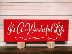 It's A Wonderful Life Wall Plaque Laser Engraved Custom Sign 165 by All Seasons