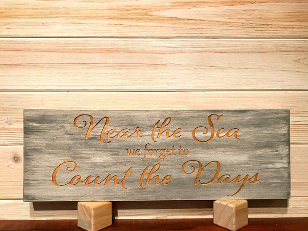 Near The Sea Wall Plaque Laser Engraved Personalized Custom Sign 165 by All Seasons