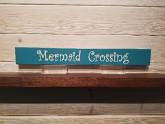 Mermaid Crossing Wall Plaque Laser Engraved Personalized Custom Sign 162 by All Seasons