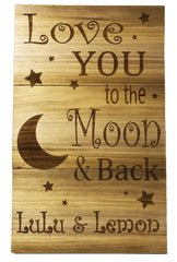 All Seasons Love You To The Moon And Back Slatboard Sign