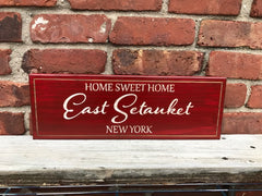 Home Sweet Home Wall Plaque Laser Engraved Personalized Custom Sign 165 by All Seasons