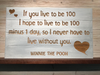 If You Live to Be A 100 Wall Plaque Laser Engraved Personalized Custom Sign 2314 By All Seasons