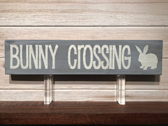 Bunny Crossing Wall Plaque Laser Engraved Personalized Custom Sign 163 by All Seasons