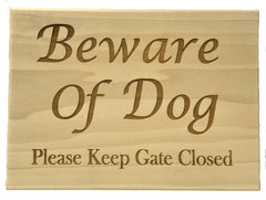 All Seasons Beware of Dog Sign
