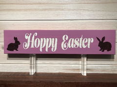 Hoppy Easter Wall Plaque Laser Engraved Personalized Custom Sign 163 by All Seasons