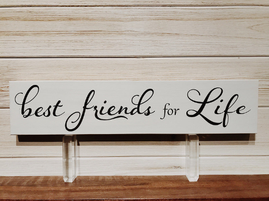 Best Friends For Life Wall Plaque Laser Engraved Personalized Custom Sign 163 by All Seasons