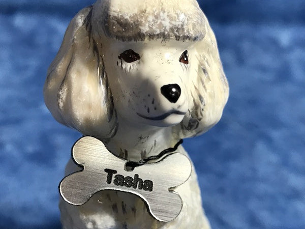 All Seasons Silvertone Bone  Mini Dog, Cat, Pet Tag Laser Engravable