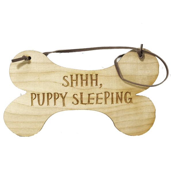 All Seasons SHHH Puppy Sleeping Sign