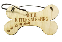 All Seasons SHHH Kittens Sleeping Sign