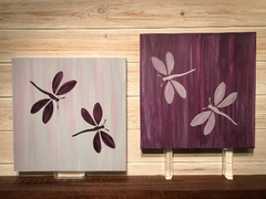 Dragonfly Set of 2 Wall Plaques Laser Engraved Personalized Custom Sign 162 by All Seasons
