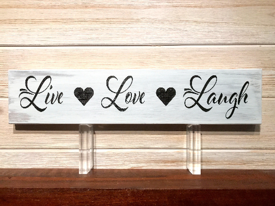 Live Love Laugh Wall Plaque Laser Engraved Personalized Custom Sign 163 by All Seasons
