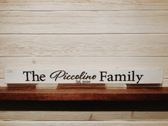 Your Family Custom Wall Plaque Laser Engraved Personalized Sign 165 by All Seasons
