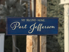My Second Home Wall Plaque Laser Engraved Personalized Custom Sign 165 by  All Seasons