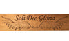 Soli Deo Gloria (Glory to God) Solid Cherry Sign Wall Plaque Laser Engraved Inspirational Personalized Custom Sign 245 by All Seasons
