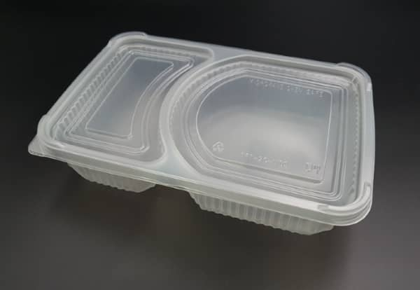 TFT-2C Clear Bento Tray 2-Compartment (50PCS*8ROLL)