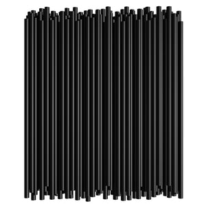 "8"" Black Straight Straw (250PCS*40PKT)"
