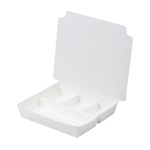 L Paper 3-Compartment-Top Lunchbox (500PCS/CTN)