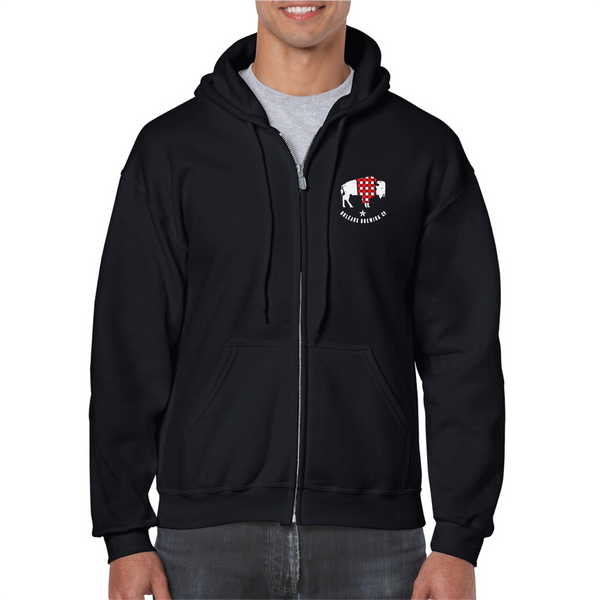 Full Zippered Hoodie Sweatshirt - COMING BACK