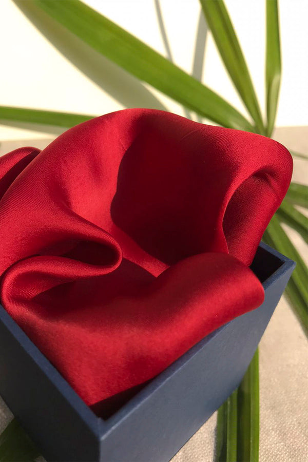 The Maroon Pocket Square