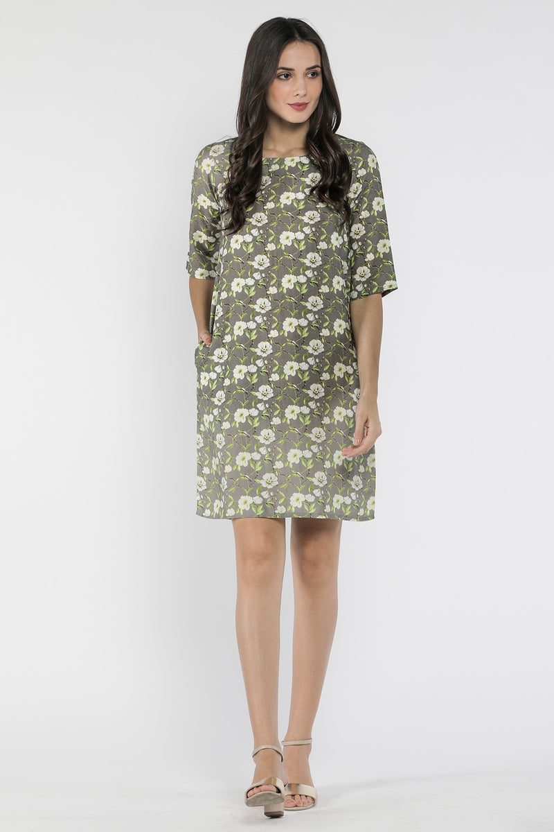 Polished Floret Dress-Yellwithus.com